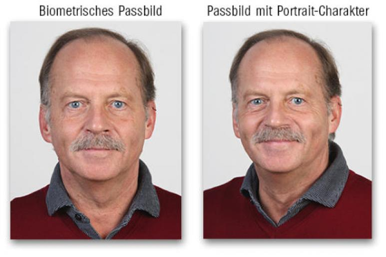Passbild biometrisch